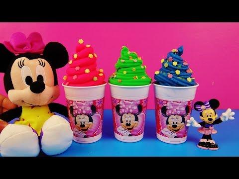 minnie mouse play doh ice cream surprise eggs fun factory disney