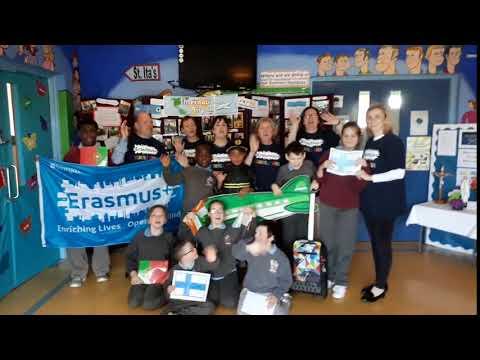 St Ita's School in Drogheda celebrate Erasmus+ Schools Week