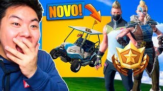 I BOUGHT THE NEW BATTLE PASS ET WALKED IN THE NEW CAR!! -Fortnite Bataille Royale