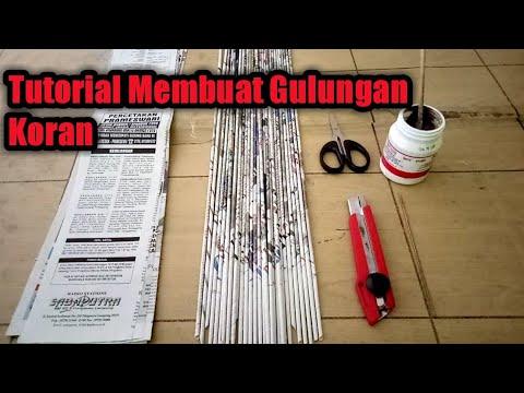 Tutorial Menggulung Koran-DIY Paper Craft