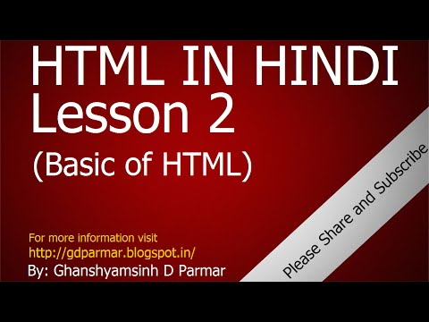 Understanding HTML Attribute, Value And Some Basic HTML Tags | Lesson - 2 | HTML In Hindi