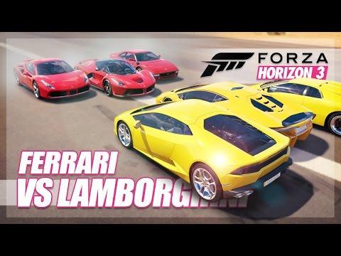 Forza Horizon 3 - Ferrari vs Lamborghini Challenge! (Relay Race & More)