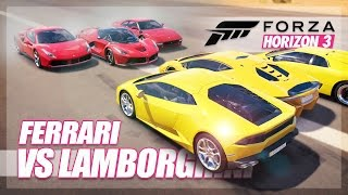 Forza Horizon 3 - Ferrari vs Lamborghini Challenge! (Relay Race & More)