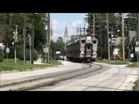South Shore Line street running in Michigan City