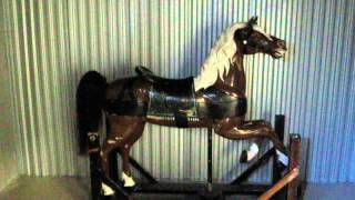 ANTIQUE AMERICAN WOOD CARVED CAROUSEL HORSE