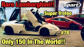 I Found A Wrecked Abandoned Lamborghini Super Trofeo At Copart Salvage Auction Only 150 In The World