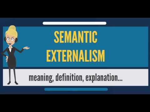 What is SEMANTIC EXTERNALISM? What does SEMANTIC EXTERNALISM mean? SEMANTIC EXTERNALISM meaning