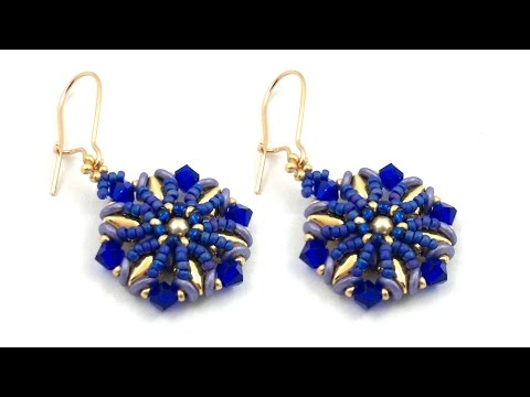 Beading4perfectionists : Royal Blue earrings beading tutorial (easy one :-)