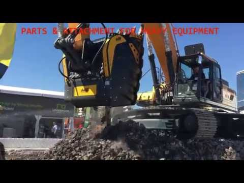 KCTPARTS - HYUNDAI EXCAVATOR HX480L equipped with MB crushing bucket
