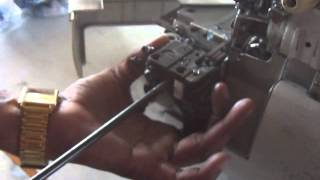 how to service sewing machine overlock-7 replacing blades -Suresh Lakshman