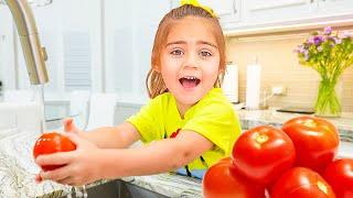 나스탸와 아르템 그리고 미아   초콜릿 손에 대한 어린이 비디오