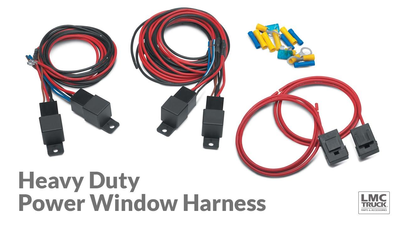 medium resolution of heavy duty power window harness for chevy gmc square body trucks lmc truck youtube