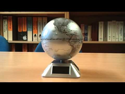 Solar powered globe