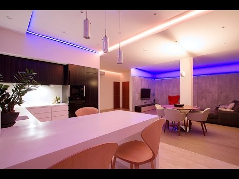 Changing the Mood of a Studio Apartment Through RGB Lighting Russian ...