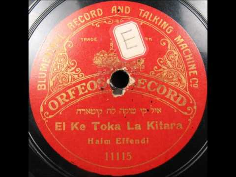 Turkish Judeo-Spanish Ladino EL KE TOKA KITARA by Haim Effendi 1913