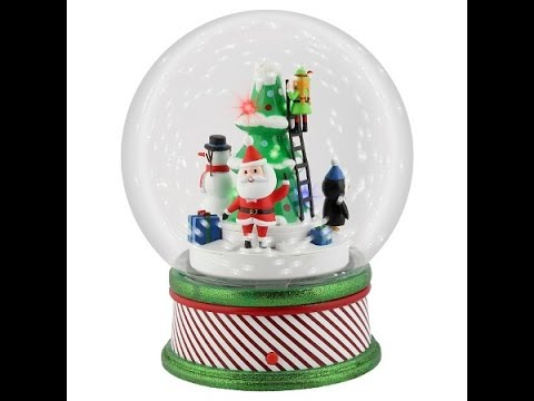 gemmy animated large rotating snowglobe target exclusive - Large Christmas Snow Globes
