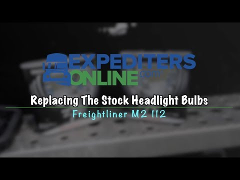 BETTER VISIBILITY AT NIGHT | Replacing Stock Headlight Bulbs | Freightliner  M2 112