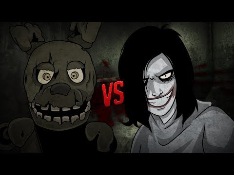 SPRINGTRAP FNAF VS JEFF THE KILLER ⭐️ Vídeo Reacción - VR 360º | iTownGamePlay