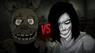 SPRINGTRAP FNAF VS JEFF THE KILLER ⭐️ Vídeo Reacción - VR 360º | iTownGamePlay