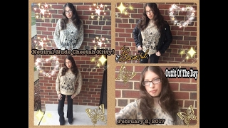 Outfit Of The Day #8: Neutral Nude Cheetah Kitty!