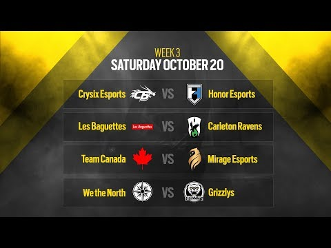 Rainbow Six Siege: LIVESTREAM Canadian Nationals Online Circuit 2 | Week 3 - Day 1 | Ubisoft [NA]