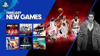 Nba 2k16 And Yakuza   February 2018 Playstation Now Update | Ps4 & Pc