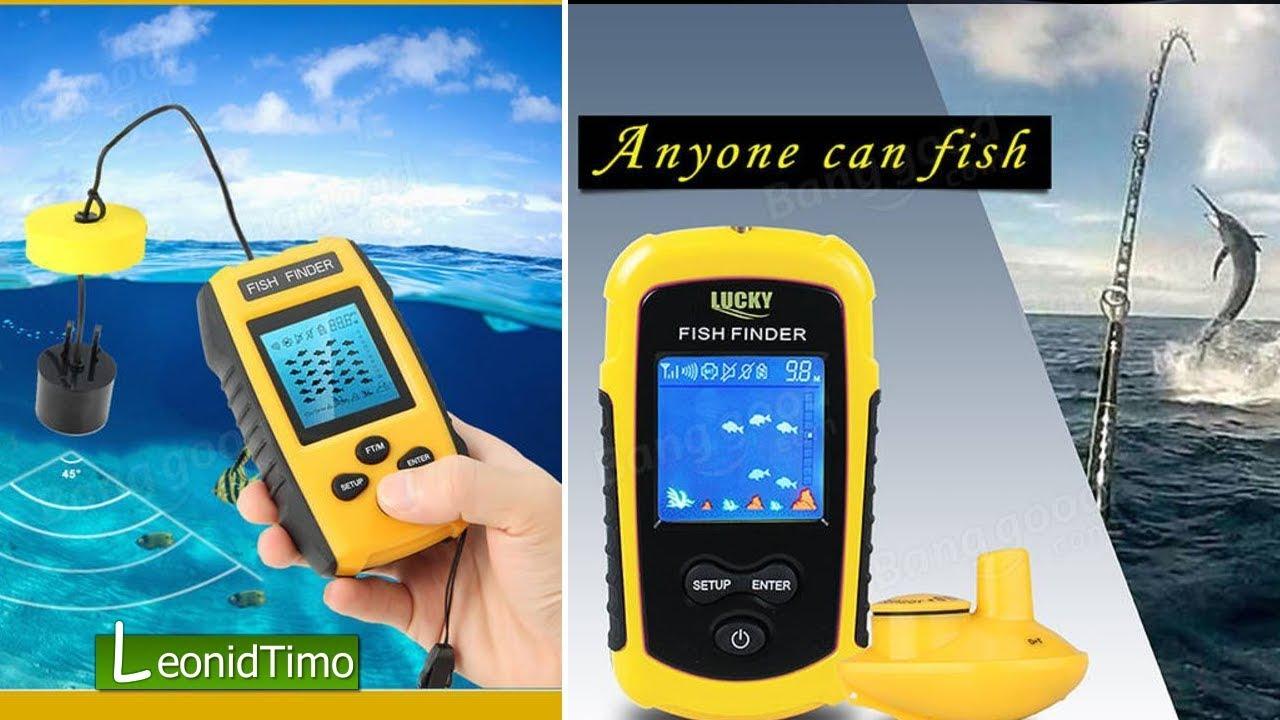 Эхолот китайский Fishfinder 🐟 Обзор Эхолота Lucky FIsh Finder FF1108-1
