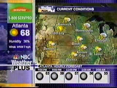 Nbc Weather Plus 10 26 08 6 46 Pm Et Youtube