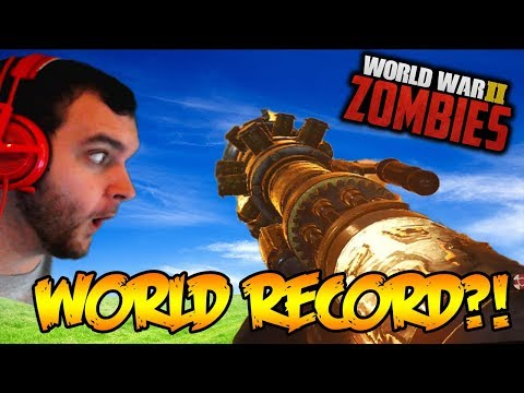 WW2 ZOMBIES - ONE MINUTE TO BEAT THE WORLD RECORD EASTER EGG! (Call of Duty WW2 Zombies)