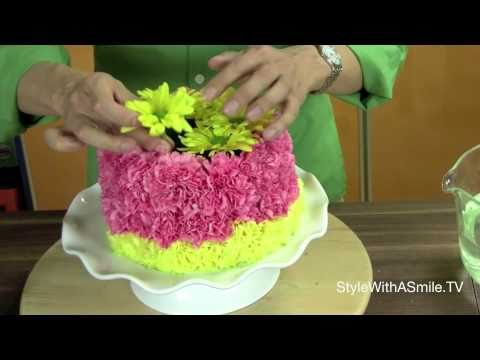 How to Make a Floral Cake A Floral Arranging Favorite YouTube