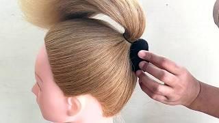 Easy Bun Hairstyles For Beginners    Bun For Short Hair    Hair Tutorial For Girls