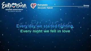 Karaoke  Norway   Alexander Rybak  quot Fairytale quot