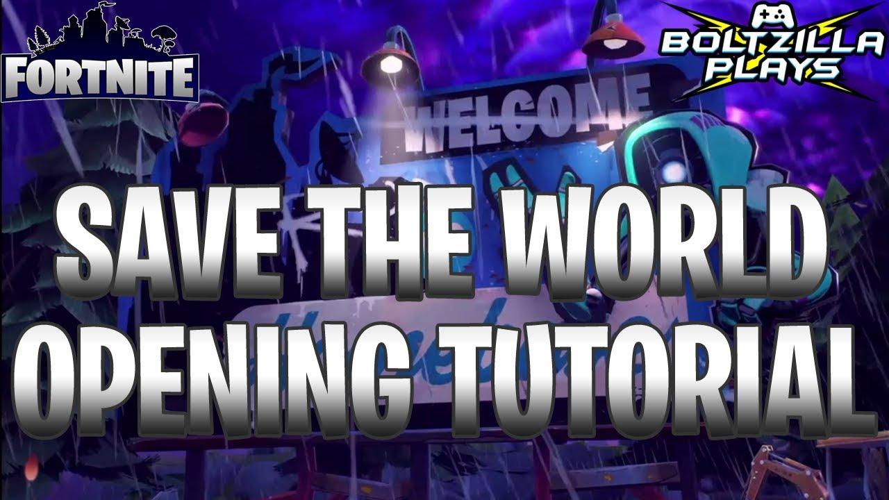 fortnite save the world tutorial