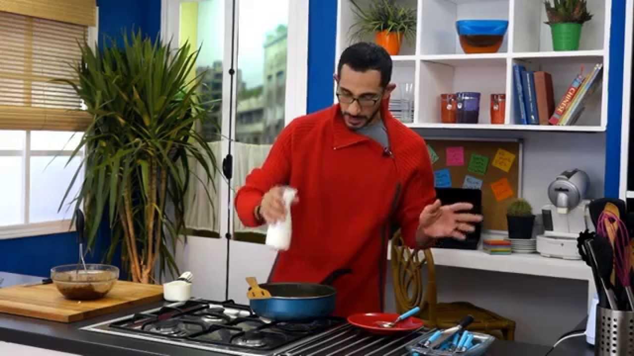مكعبات الدجاج بالجبنة الزرقاء والتمر بجوز الهند مع هانى عبد الناصر فى سوبر هاتريك (الجزء الثانى)