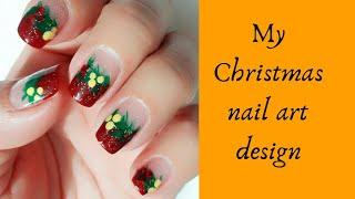 My Christmas nail art design