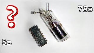 Как 5 вольтовая Микросхема управляет 70 вольтовой  Неонкой