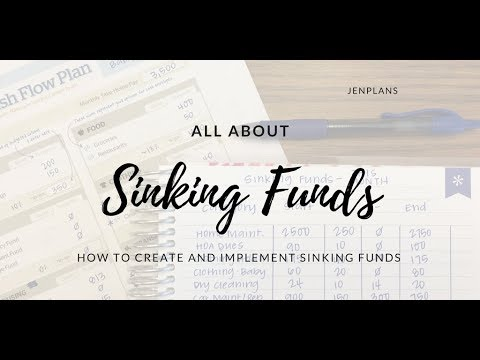 SINKING FUNDS | How to Create and Implement Sinking Funds