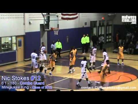 Milwaukee King combo - guard Nic Stokes #12 - Recruit MIX