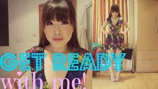 Get Ready With Me #5: Summer Party | Heatless Hair, Makeup, & Outfit! ♥ Thumbnail