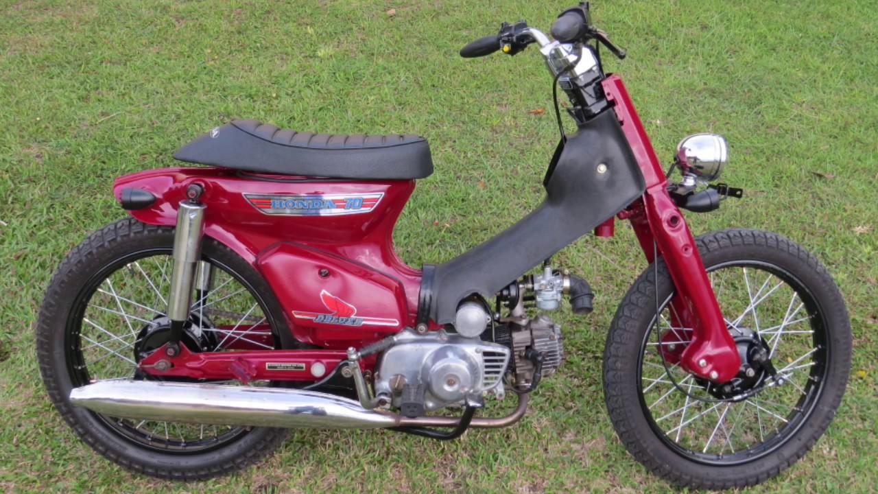 Modifikasi Honda Super Cub 70 Merah Marun