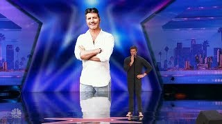 America's Got Talent 2017 Daniel Ferguson Surprises Simon in Song Full Audition S12E03