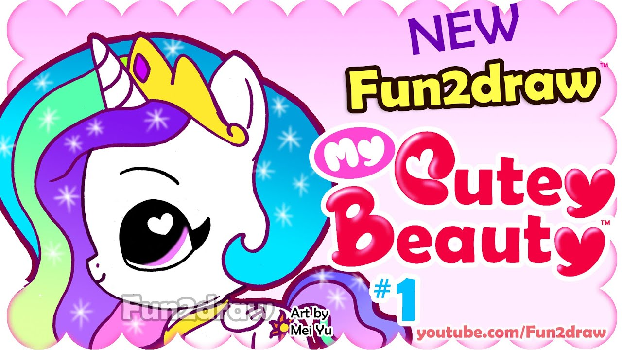 How To Draw Easy Super Cute Princess Celestia Chibi