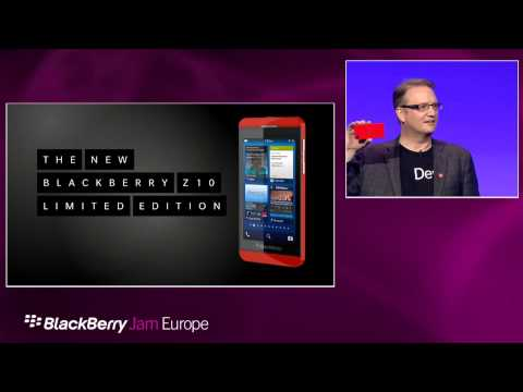 BlackBerry Jam Europe General Session - 2/15 - Alec Saunders and Red Limited Edition BlackBerry Z10
