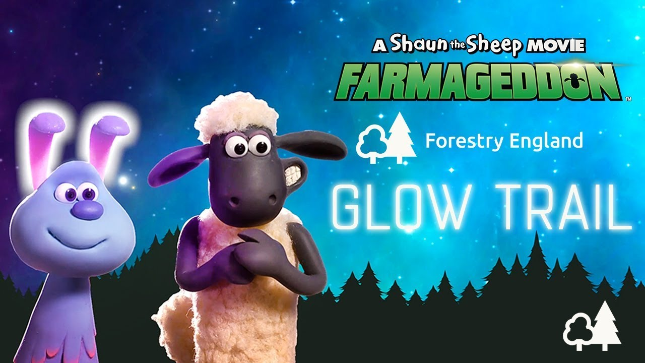 Forestry England Glow Trail - Shaun the Sheep Movie: Farmageddon