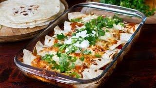 Chicken and Bean Enchiladas Recipe