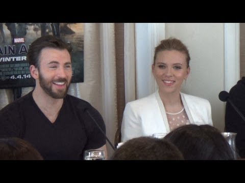 Marvel Captain America Press Conference With Chris Evans, Sc