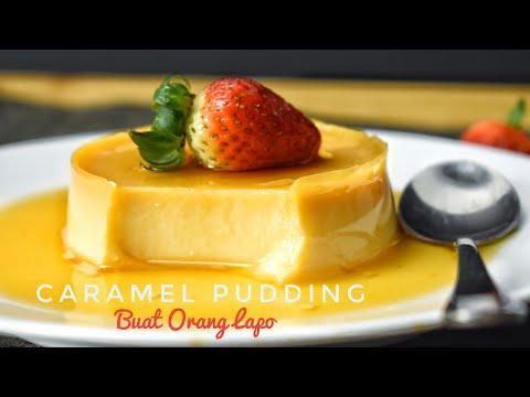 Eggless Caramel Pudding   Puding Karamel Tanpa Telur