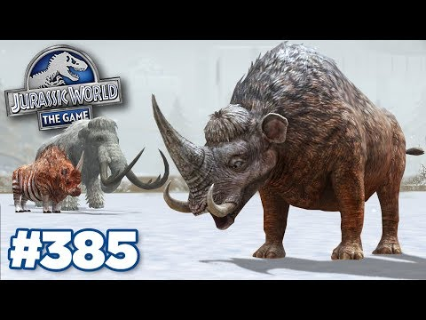 NEW MAMMOTHERIUM, STRONGEST GLACIER!!! | Jurassic World - The Game - Ep385 HD