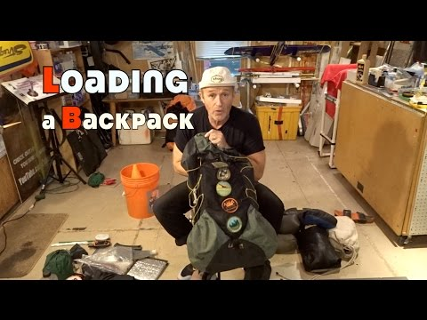 Loading a Backpack