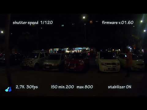 GoPro Hero 6 - firmware v.02.00 stabilization test in low light